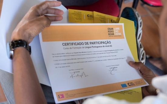 Encerramento Curso de Formação em Língua Portuguesa - Luta Hamutuk